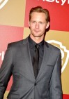 Alexander Skarsgård makes the rounds at the Golden Globe parties