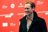 """Cast member Alexander Skarsgard poses at the premiere of """"The East"""" during the Sundance Film Festival in Park City, Utah"""